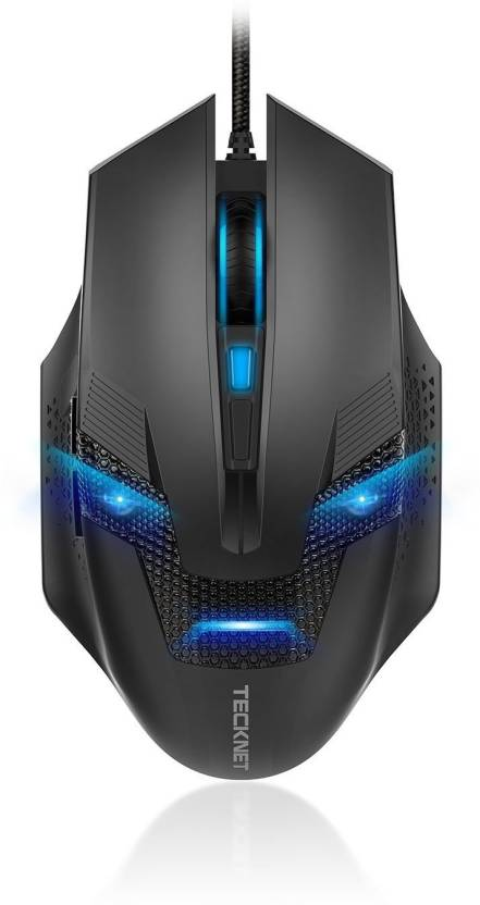 Tecknet M268 Raptor Black Wired Optical Mouse Gaming Mouse