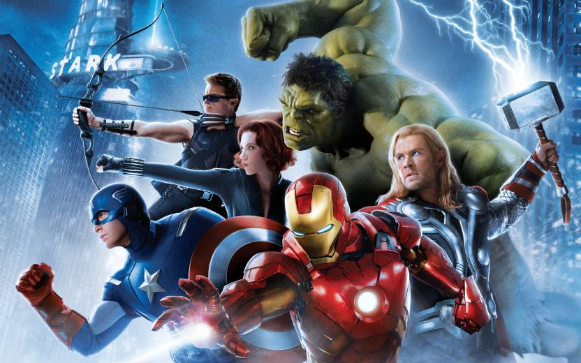 c35506c38a7d Movie Avengers  Age Of Ultron The Avengers Thor Captain America Hulk  Hawkeye Black Widow Iron Man HD Wallpaper Background Paper Print (12 inch X  18 inch