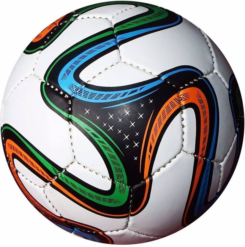 Sniper Brazuca FCB   Material Used as per FIFA Recommendation  Football   Size: 5 Pack of 1, Multicolor