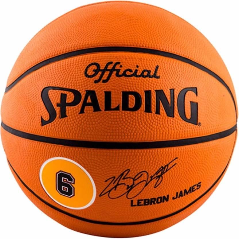 29ff88d2d74d8 SPALDING Lebron James Basketball - Size  7 - Buy SPALDING Lebron ...