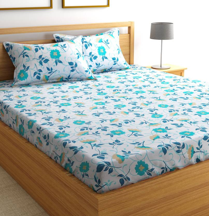 New Summer Collection!! 100% Cotton Bedsheets From @ Rs.399 By Flipkart   Flipkart SmartBuy Cotton Floral Double Bedsheet  (1 Double Bedsheet and 2 Pillow Covers, Yellow) @ Rs.399