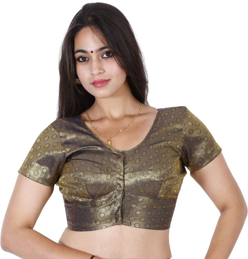 4db259d0d0e41 JISB Fashion Neck Women s Stitched Blouse - Buy JISB Fashion Neck Women s  Stitched Blouse Online at Best Prices in India