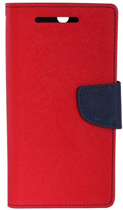 MV Flip Cover for OnePlus One Red
