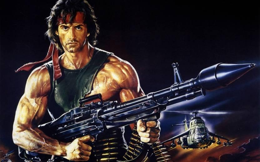Movie Rambo First Blood Part Ii Rambo On Fine Art Paper Hd
