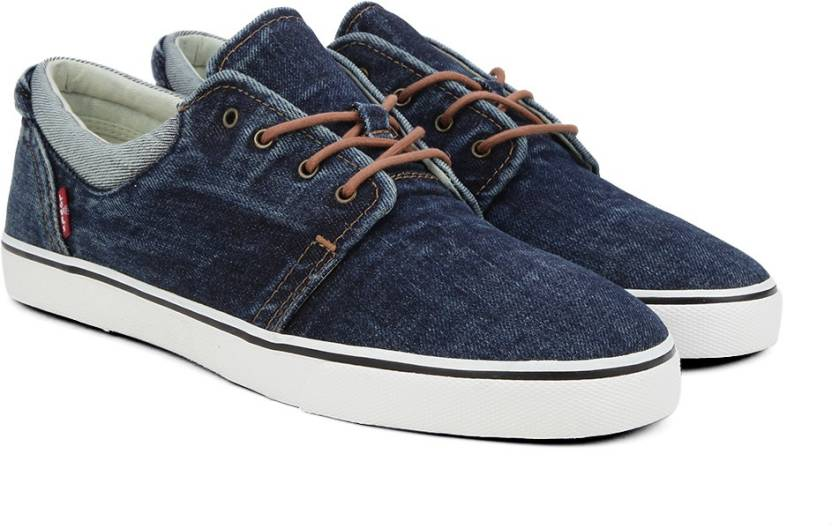 8957f9a3c2df Levi s Original Red Tab Derby Sneakers For Men - Buy Dark Blue Color ...
