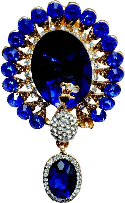 2cd1bbb62e7 Mansiyaorange Designer Latest Fancy Sari Pin/Saree Pin/Hijab Pin Brooch  (Blue)