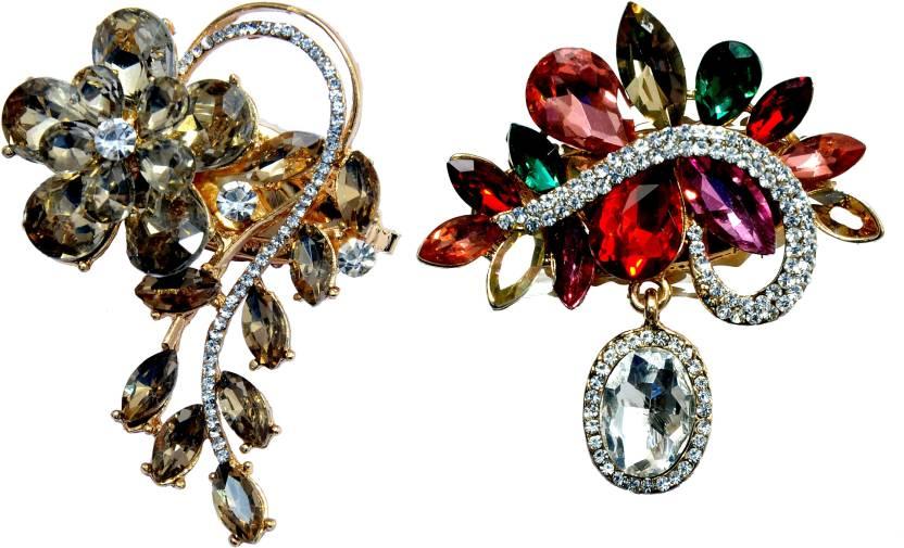 51a3b9051 Mansiyaorange Designer Latest Fancy Combo Of Sari Pin/Saree Pin/Hijab Pin  Brooch (Multicolor)
