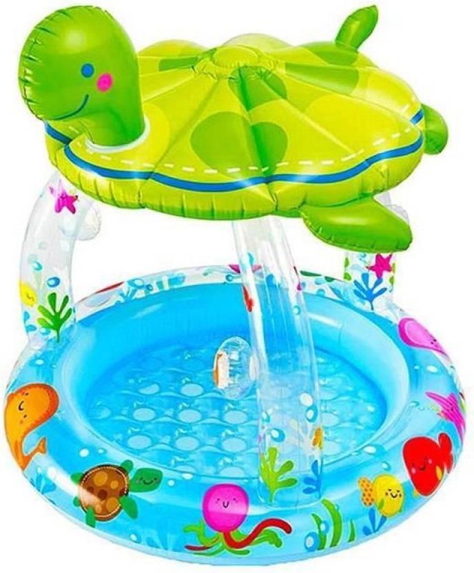 SAPPHIRE SA Sea Turtle Shade intex bath tub for Kids Inflatable Pool ...