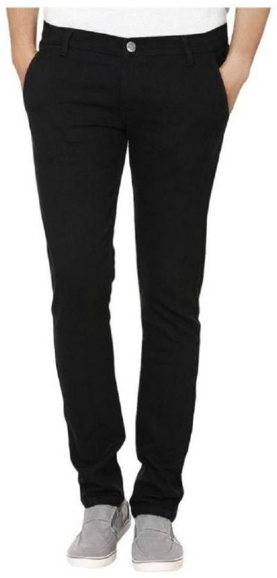 Urbano Fashion Slim Mens Black Jeans
