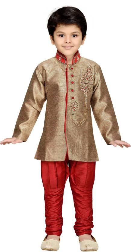 82e7b641c AJ Dezines Boys Sherwani and Churidar Set Price in India - Buy AJ Dezines  Boys Sherwani and Churidar Set online at Flipkart.com