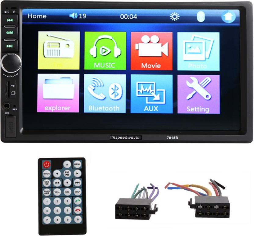 Speedwav Car 7018B Double Din HD Touch Screen Car Stereo Price in