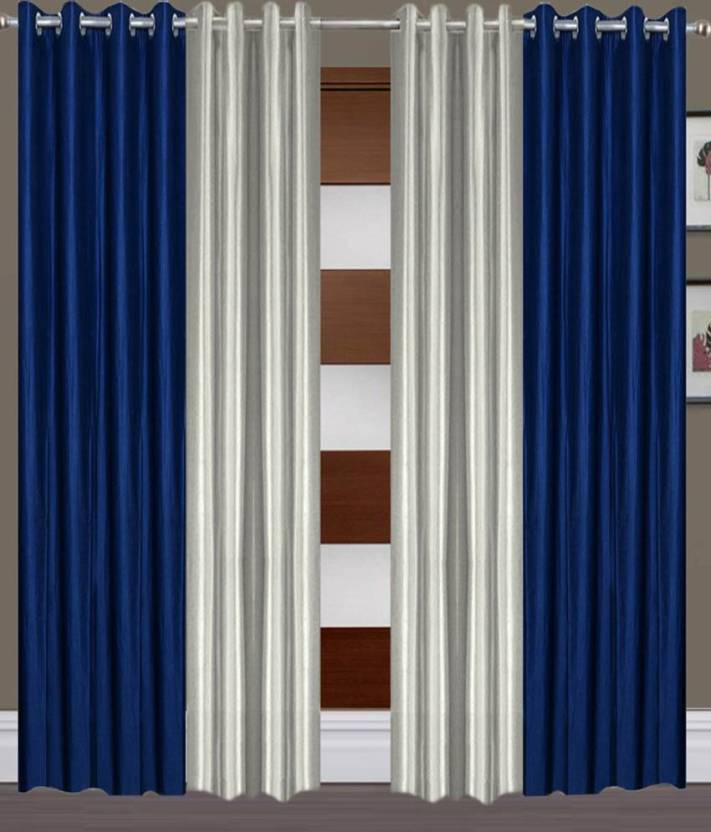 HD Inderio 150 cm (5 ft) Polyester Window & Door Curtain (Pack Of 4 on