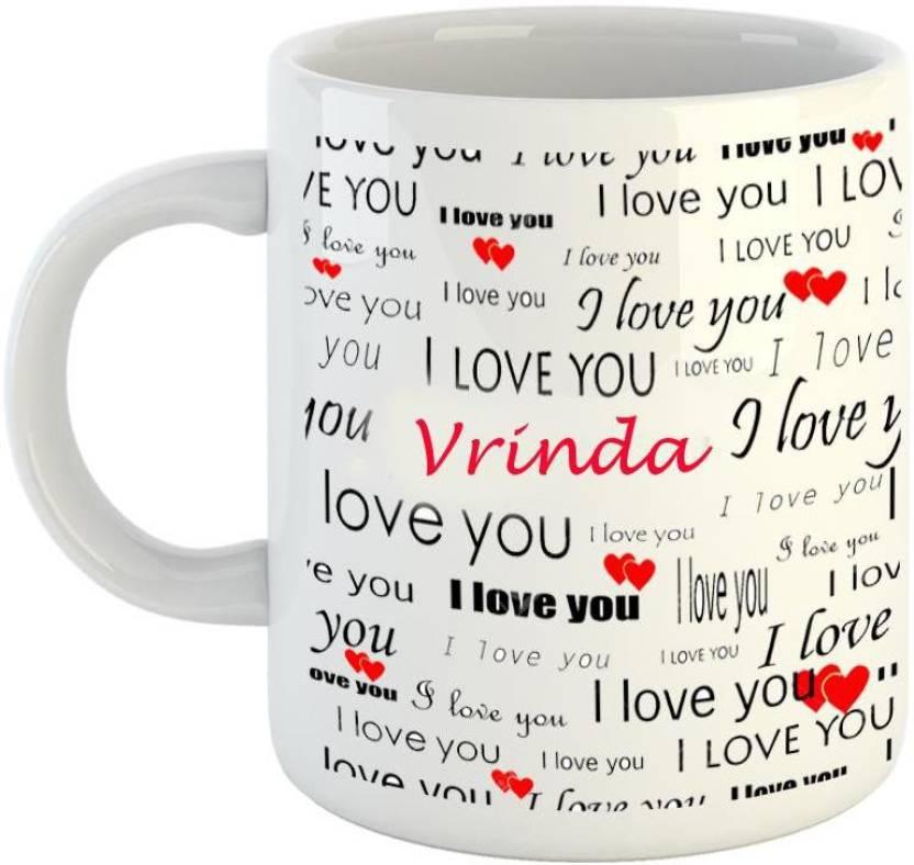 Emerald Love You White Ceramic I Love You Vrinda Ceramic Mug