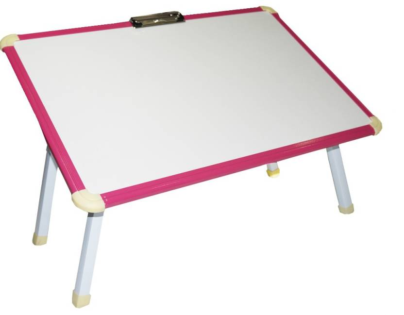 Muren Study cum Writing cum Marker Table Wood Portable Laptop Table Finish Color   Pink