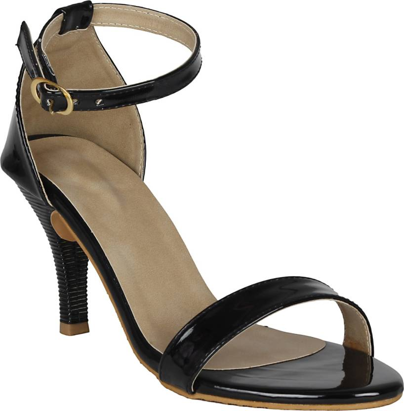 VAGON Women BLACK Heels - Buy VAGON Women BLACK Heels Online at ...