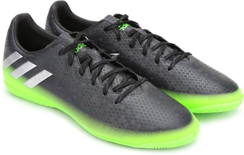 newest 4a4bd 7bfa7 ADIDAS MESSI 16.4 IN Football Shoes For Men (Black, Green)