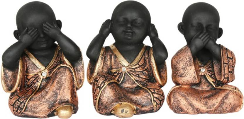 Heeran Art Religious Idols Of Baby Buddha Monk See No Evil Hear Speak