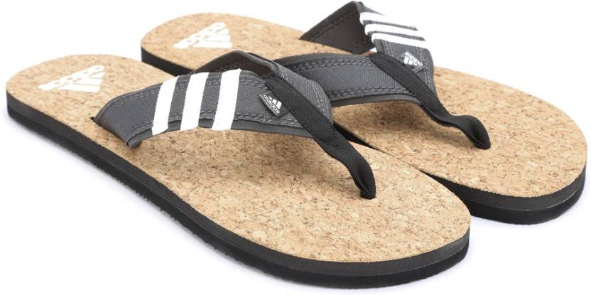 2af71081b470 ADIDAS BEACH CORK THONG MS Slippers - Buy DGSOGR BLACK WHITE Color ADIDAS  BEACH CORK THONG MS Slippers Online at Best Price - Shop Online for  Footwears in ...
