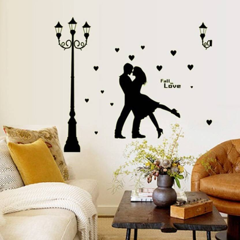 oren empower dancing love couple modern black wall sticker for