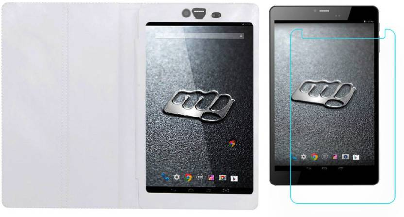 ACM Case Accessory Combo for Micromax Canvas Tab P690 White, Transparent