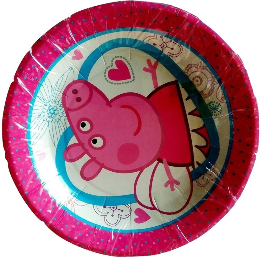 Funcart Peppa pig paper plate size 7inches (pack of 8pcs) Plate  sc 1 st  Flipkart & Funcart Peppa pig paper plate size :7inches (pack of 8pcs) Plate ...