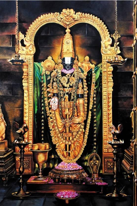 Balaji Lord Venkateswara Paper Print