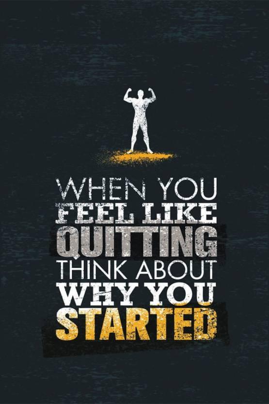 RadhaKripa dont quit Paper Print - Quotes & Motivation