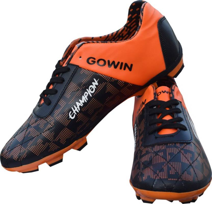 6f3955ee6a0 Gowin Champion Black Orange Football Shoes For Men - Buy Gowin ...