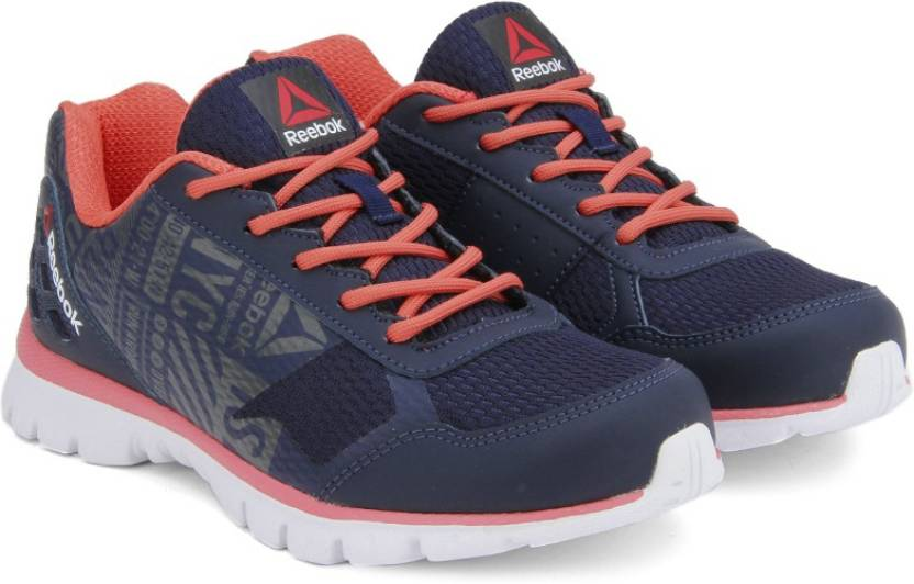 04abd0eaec53 REEBOK RUN VOYAGER Running Shoes For Women - Buy NAVY GRY FIRE CORAL ...