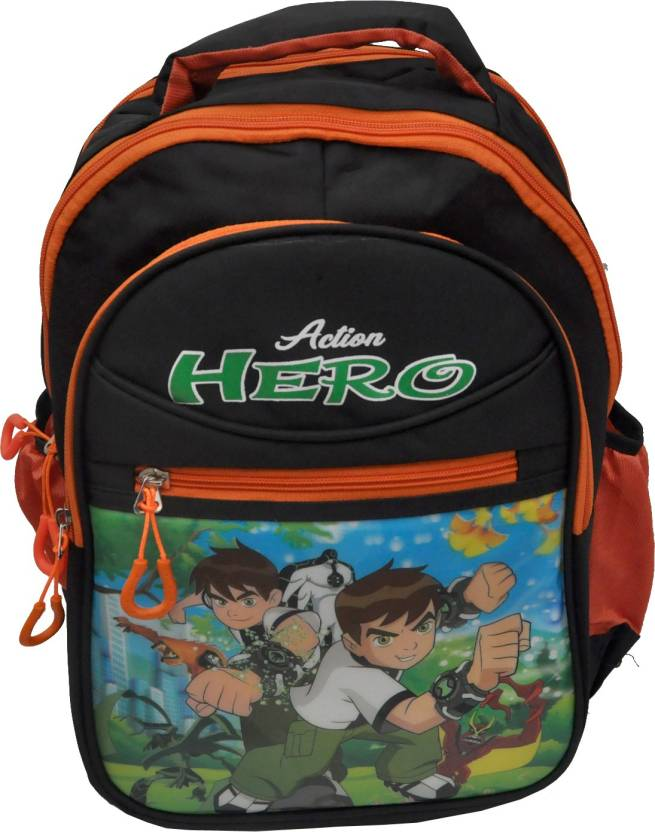 cee38823af NoVowels 3D BEN-10 Backpack For Boys   Girl Black Color Waterproof School  Bag (Black