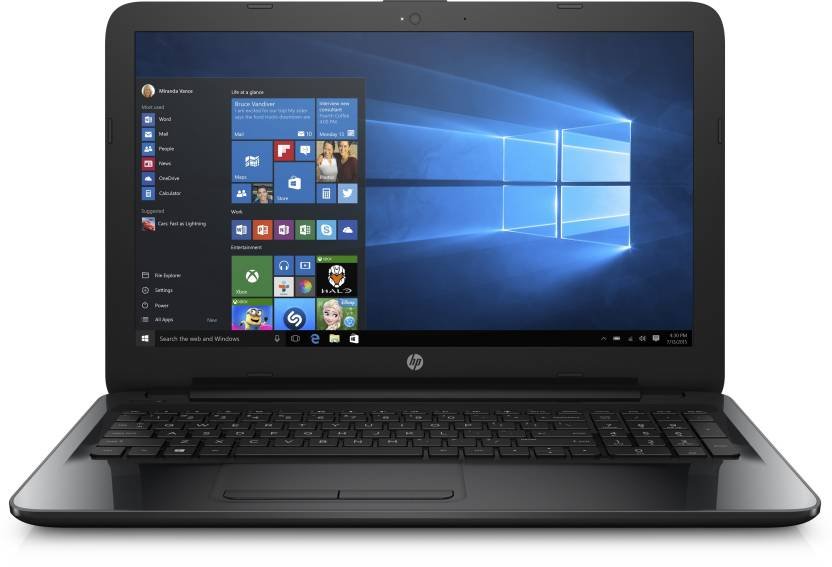 HP APU Quad Core A8 - (4 GB/1 TB HDD/Windows 10 Home) 15-BG004AU Laptop  (15.6 inch, SParkling Black, 2.19 kg)-5% OFF