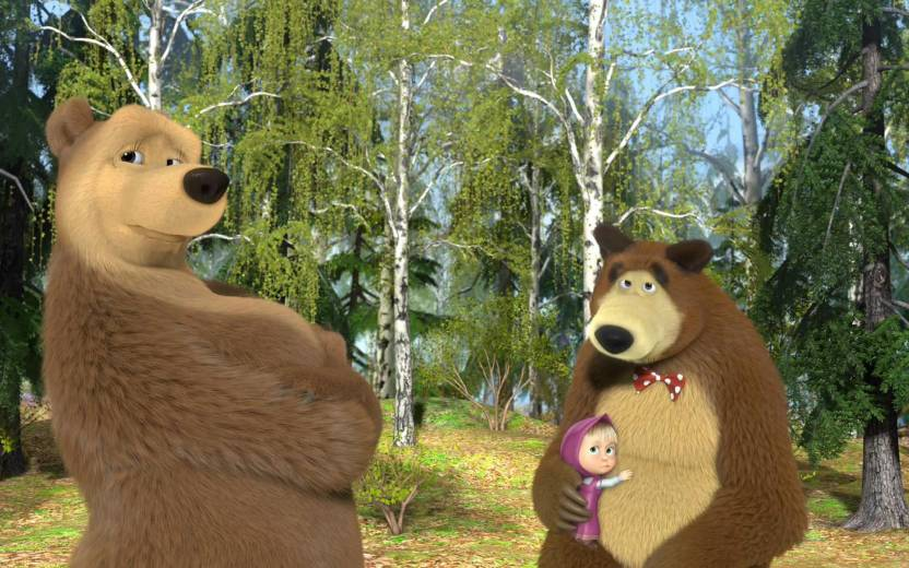 Movie Masha And The Bear Hd Wallpaper Background Paper Print