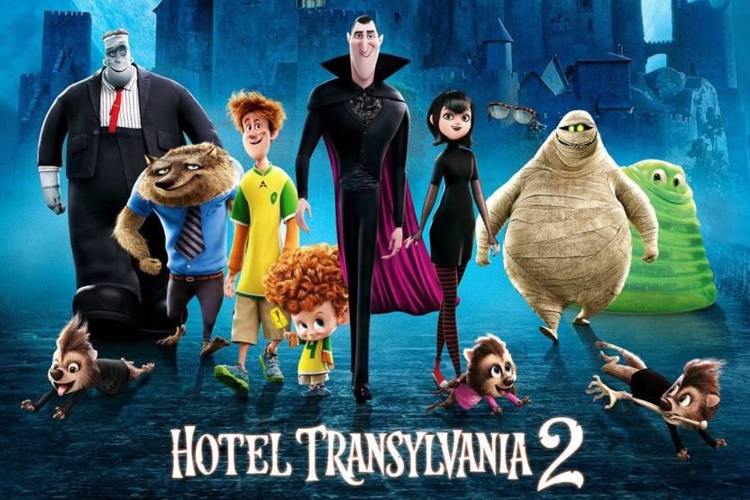 Akhuratha Poster Movie Hotel Transylvania 2 Dracula Frankenstein The Mummy Mavis Jonathan Wayne Dennis Murray Griffin