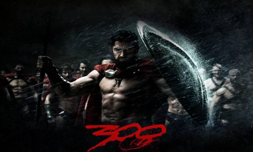 Akhuratha Poster Movie 300 Spartan Warrior Spartacus Gerard Butler HD Wallpaper Background Fine Art Print