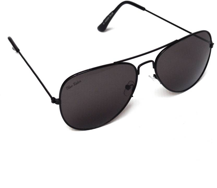 c597d09483 Buy Blue Rider Aviator Sunglasses Black For Men   Women Online ...