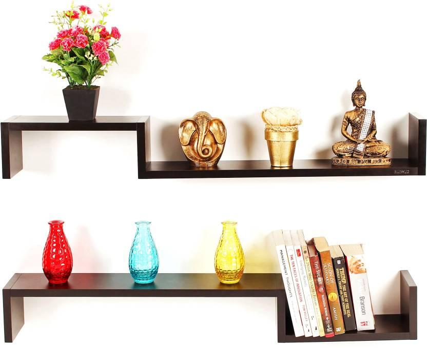 Bluewud Riley Engineered Wood Open Book Shelf Price In India Buy