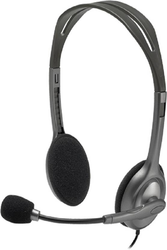 ece506f1323 Logitech h111 Wired Headset with Mic Price in India - Buy Logitech ...