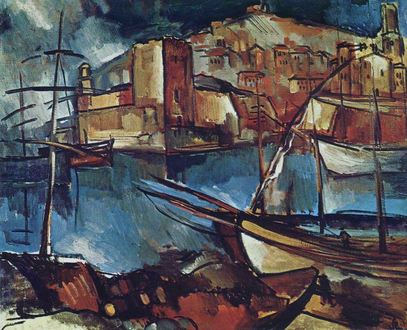 PosterMart Maurice de Vlaminck - Fishing Boats Canvas