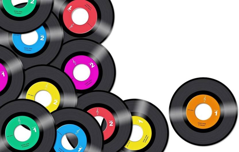 Music Record Vinyl Colorful Vintage Retro On Good Quality Hd