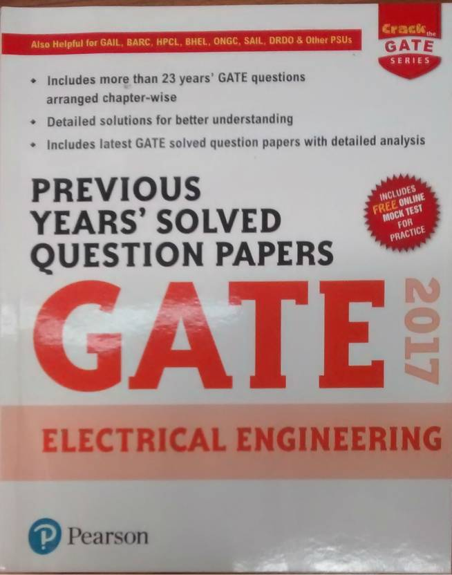 Previous Years� Solved Question Papers GATE 2017 Electrical Engineering 2017 Edition