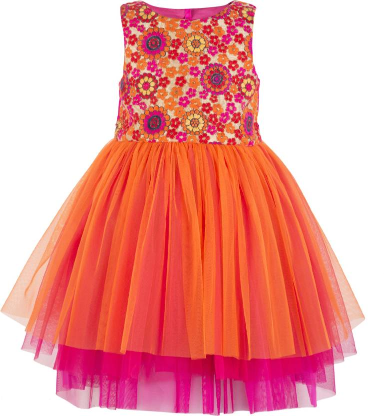 539645016e8f Toy Balloon Kids Girls Midi Knee Length Party Dress Price in India ...