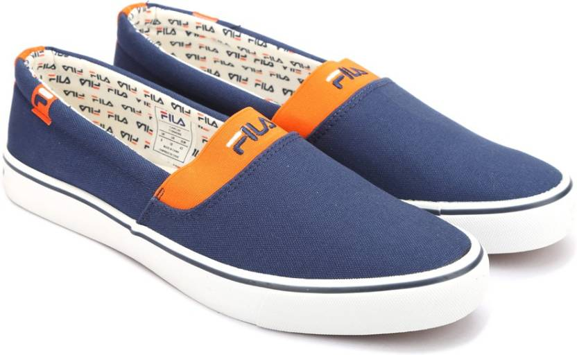 c96141981558 Fila Canvas Shoes For Men - Buy NVY ORG Color Fila Canvas Shoes For ...