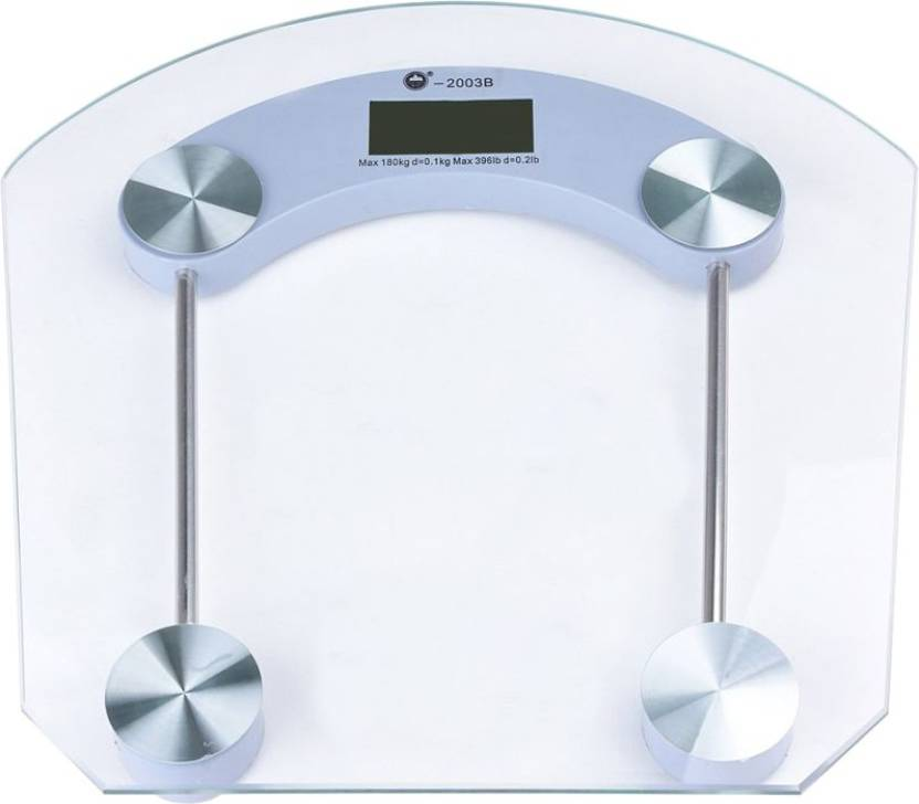 Akline Bathroom Digital Weighing Scale 8mm Thick Square Shape Glass Measurement