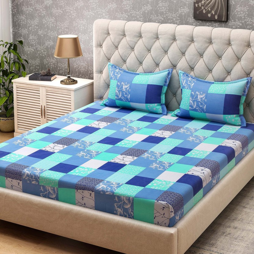 Charming Bombay Dyeing 104 TC Cotton Double Checkered Bedsheet