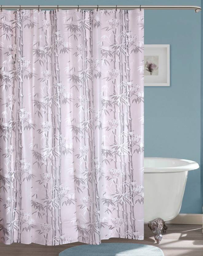 Yellow Weaves 213 Cm 7 Ft PVC Shower Curtain Single
