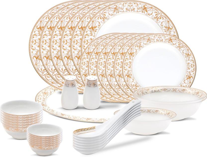 henniger GOLD PLATED BEST SELLER Pack of 36 Dinner Set  sc 1 st  Flipkart & henniger GOLD PLATED BEST SELLER Pack of 36 Dinner Set Price in ...