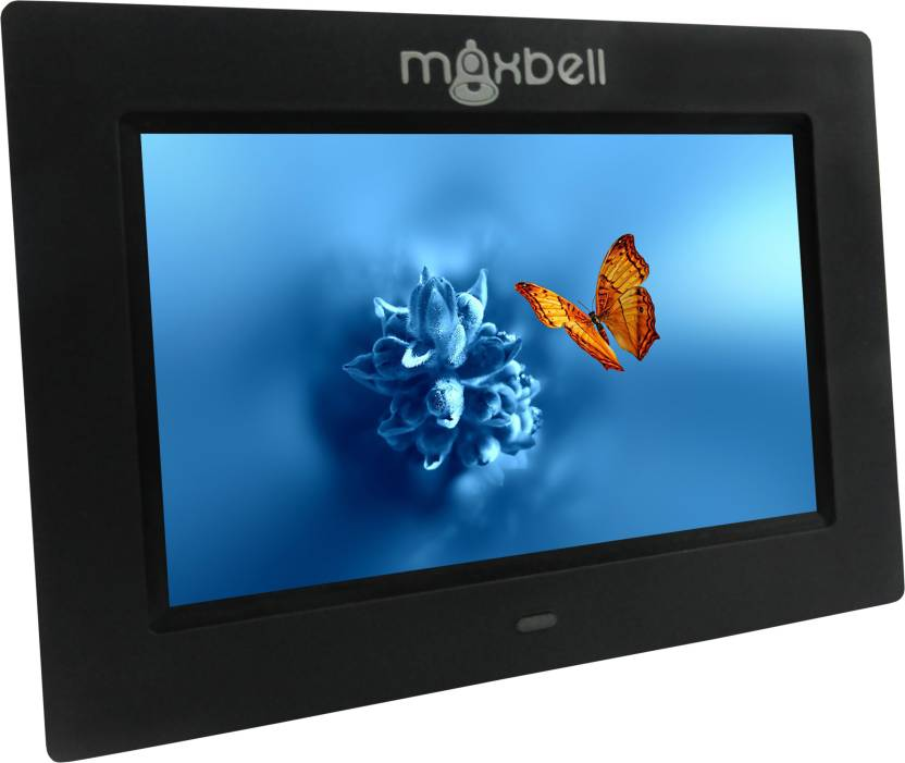 b75bb20c989 Maxbell Digital Photo Frame HD LCD Clock Photos Calendar MP3 4 Player 7  inch Digital (1 GB