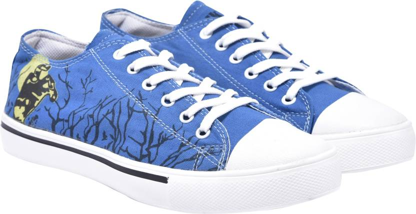 939542de3f645 Walk Jump blue printed canvas shoes,casuals,trending Sneakers For Men