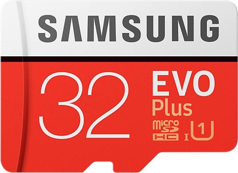 Samsung EVO Plus 32 GB MicroSDHC Class 10 95 MB/s Memory Card- 24% OFF