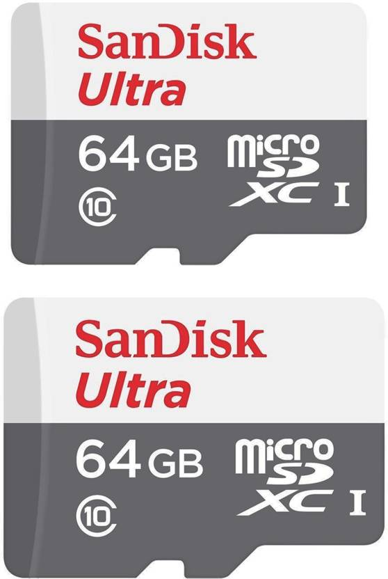 SanDisk 64 GB COMBO Ultra MicroSDHC Class 10 48 MB S Memory Card